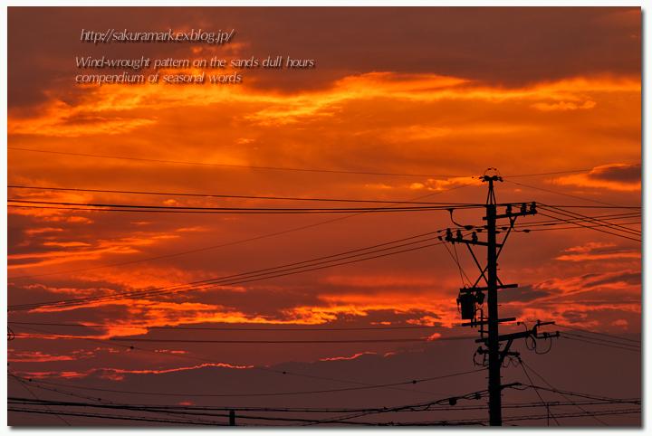 6月最後の夕焼け空。_f0235723_20152571.jpg