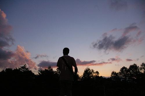 夕日をながめる_b0174425_13553012.jpg