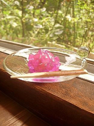 和菓子をガラスのお皿で。_f0206741_0311483.jpg