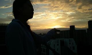 夕日♪_f0202682_1213717.jpg