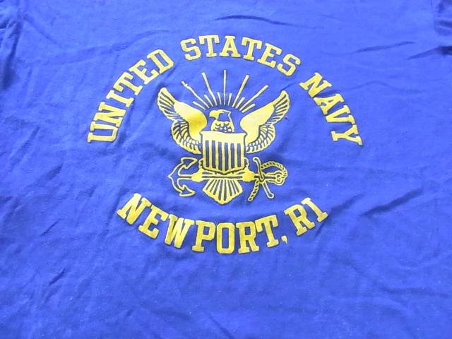 7/2(土)入荷!80\'Sフロッキープリント U.S NAVY Tシャツ!_c0144020_14224646.jpg