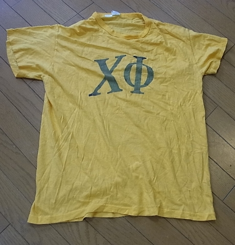 60-70'S フラタニティーTシャツ 染み込みプリント!_c0144020_14411587.jpg