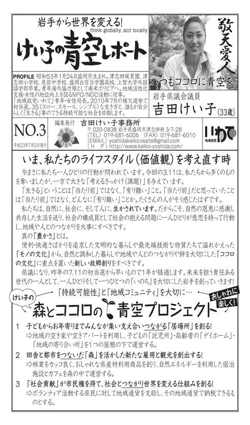 「けい子の青空レポートvol.3」発行_b0199244_7581659.jpg