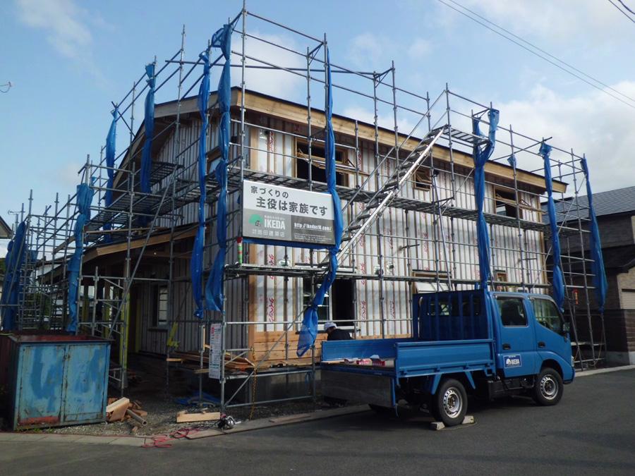 K様邸「船場町の家」 施工中です。_f0150893_2092317.jpg