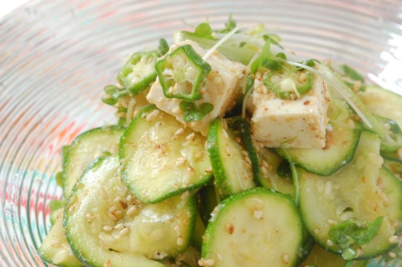 夏野菜と豆腐の胡麻サラダ_d0104926_5152863.jpg