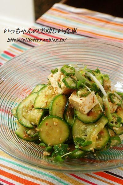 夏野菜と豆腐の胡麻サラダ_d0104926_542527.jpg