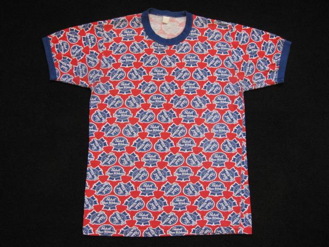Pabst Blue Ribbon 総柄Tシャツ & Bud総柄T & Bud_b0114845_19153517.jpg