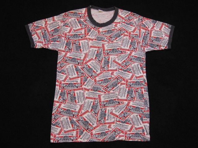 Pabst Blue Ribbon 総柄Tシャツ & Bud総柄T & Bud_b0114845_19154592.jpg