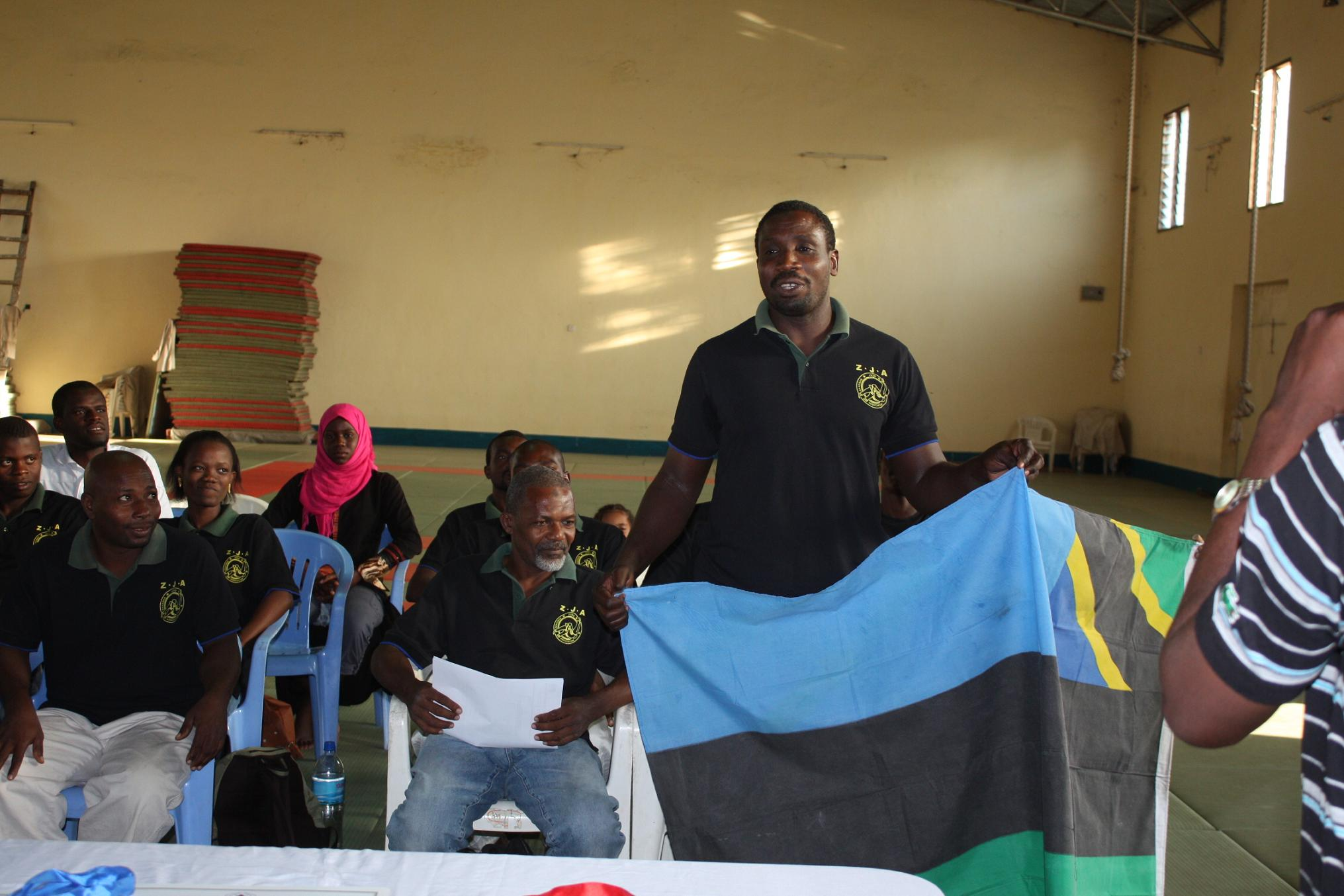 Ceremony of National Flag for The 5th East Africa Judo Championship 2011~国旗授与式_a0088841_10285716.jpg