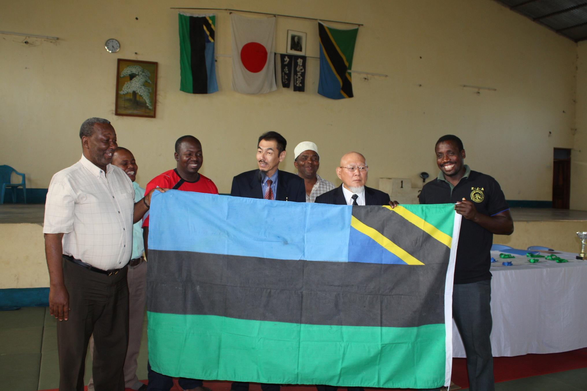 Ceremony of National Flag for The 5th East Africa Judo Championship 2011~国旗授与式_a0088841_1029329.jpg