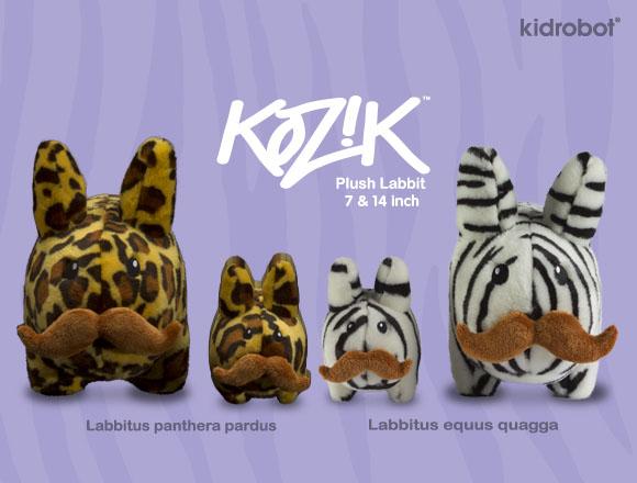 Kozikの新ヌイグルミ、Zebra & Leopard Stache Labbit。_a0077842_21101681.jpg