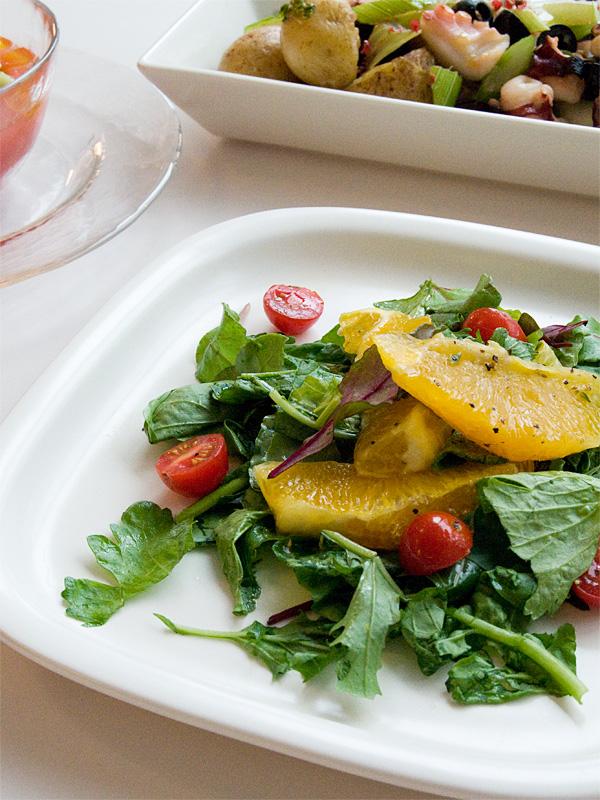 オレンジと葉モノ野菜のサラダ_f0191870_9304698.jpg