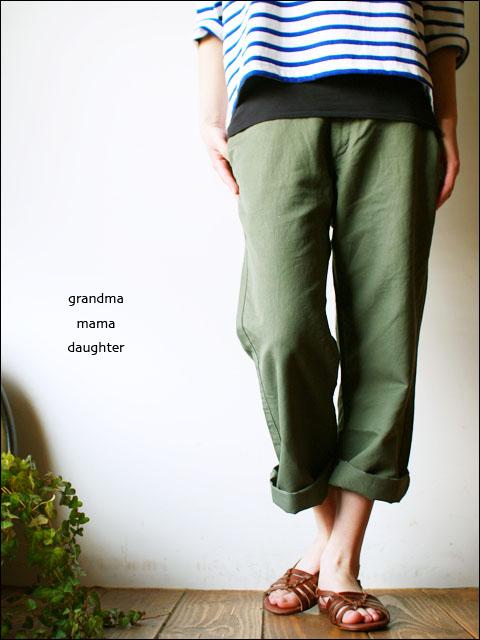 GRANDMA MAMA DAUGHTER[グランマ・ママ・ドーター] COTTON LINEN PANTS [GP110402] [LADY\'S] _f0051306_0333888.jpg