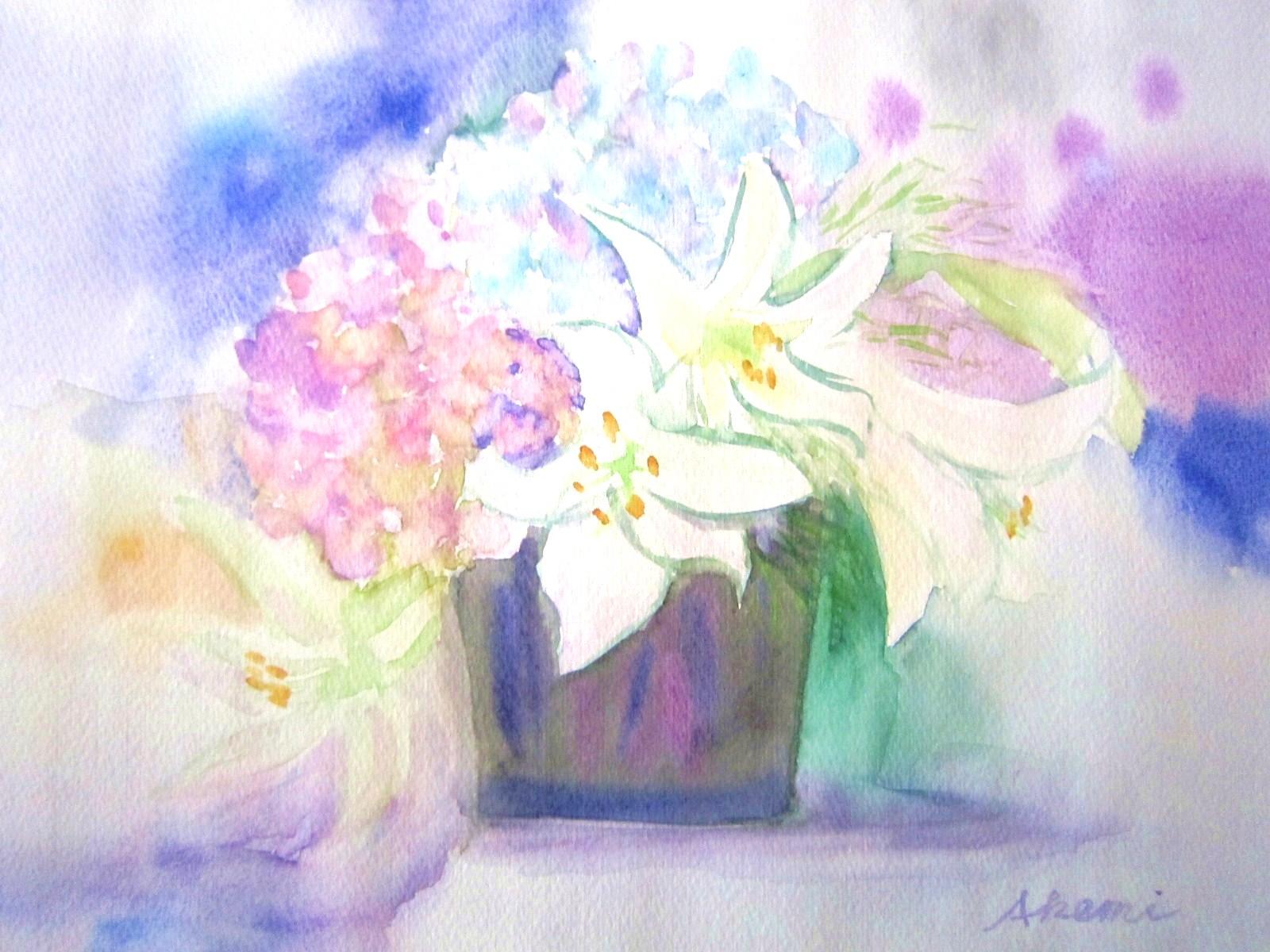 122. 紫陽花のアレンジメント_e0233674_1357073.jpg