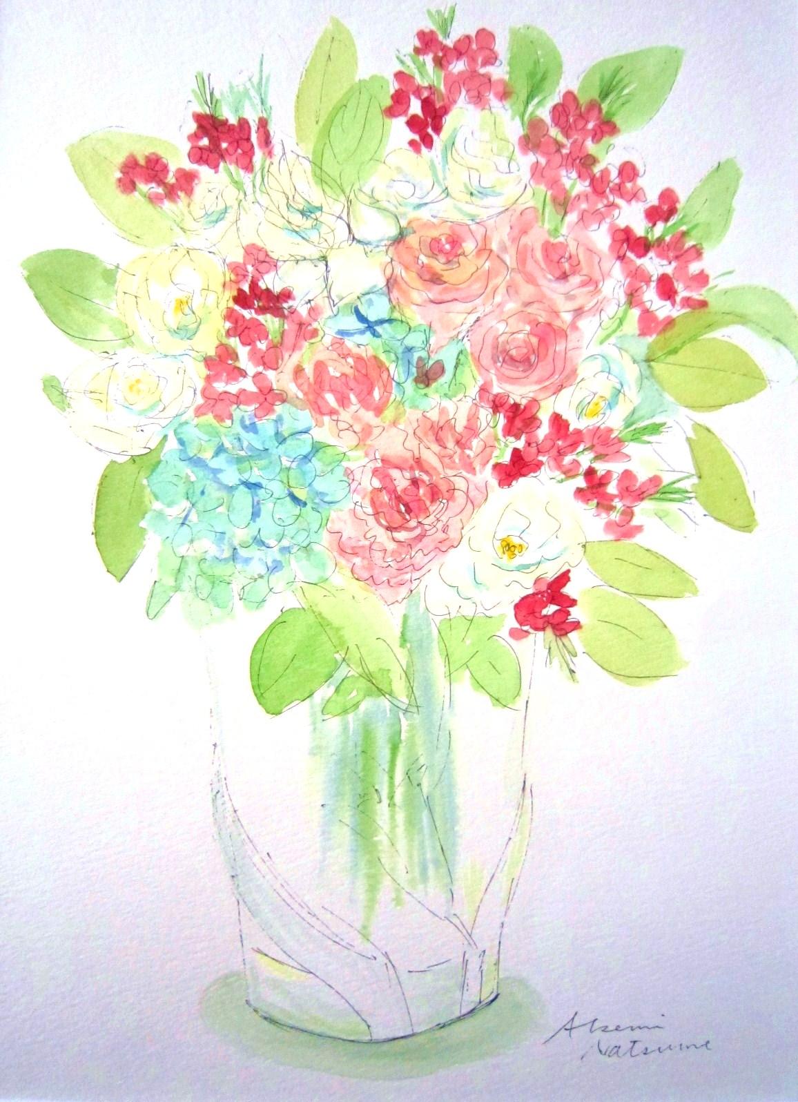 122. 紫陽花のアレンジメント_e0233674_13582896.jpg