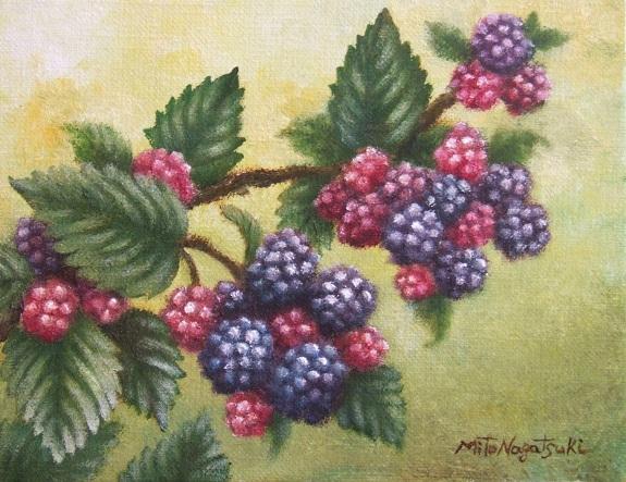 ブラックベリーの油絵_b0089338_23561314.jpg