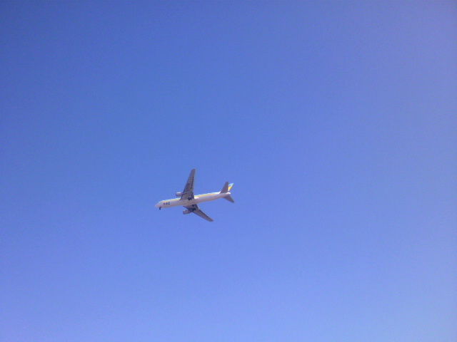 着陸寸前の飛行機_b0106766_20514939.jpg