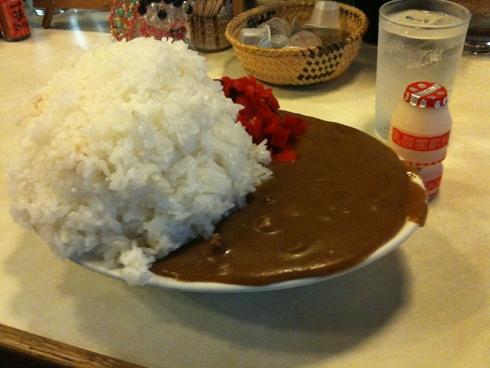 喫茶 田川 大盛カレー_d0085634_1226468.jpg