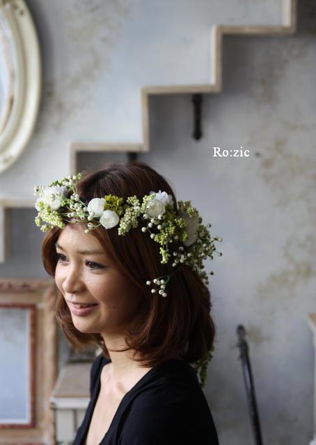 2011.7.11 実がいっぱいの白い花冠とリストレットと 花嫁さま_b0120777_22312285.jpg