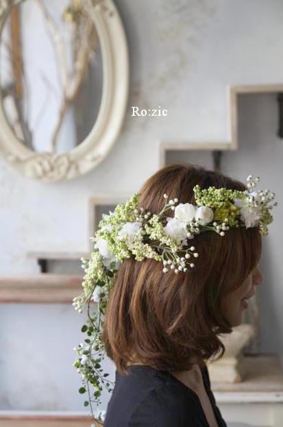 2011.7.11 実がいっぱいの白い花冠とリストレットと 花嫁さま_b0120777_2232431.jpg