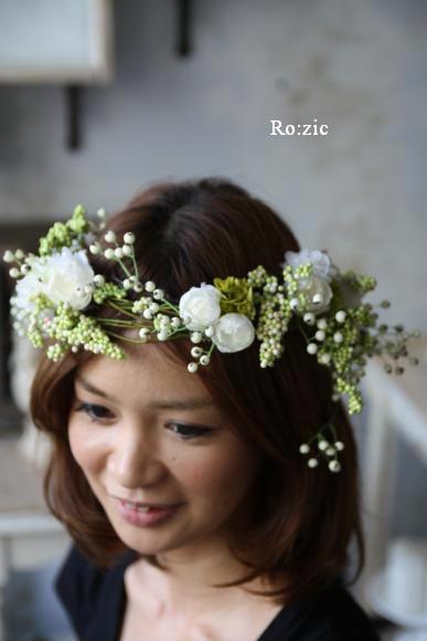 2011.7.11 実がいっぱいの白い花冠とリストレットと 花嫁さま_b0120777_22331925.jpg