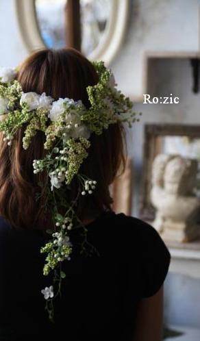 2011.7.11 実がいっぱいの白い花冠とリストレットと 花嫁さま_b0120777_22334647.jpg