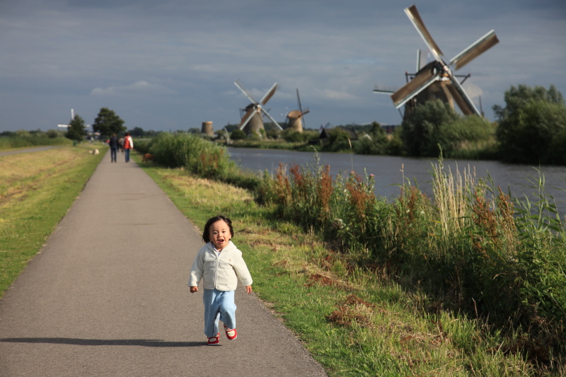 キンデルダイクの風車が回る日_c0187779_3272858.jpg