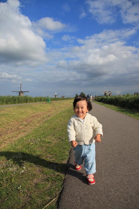 キンデルダイクの風車が回る日_c0187779_3312970.jpg