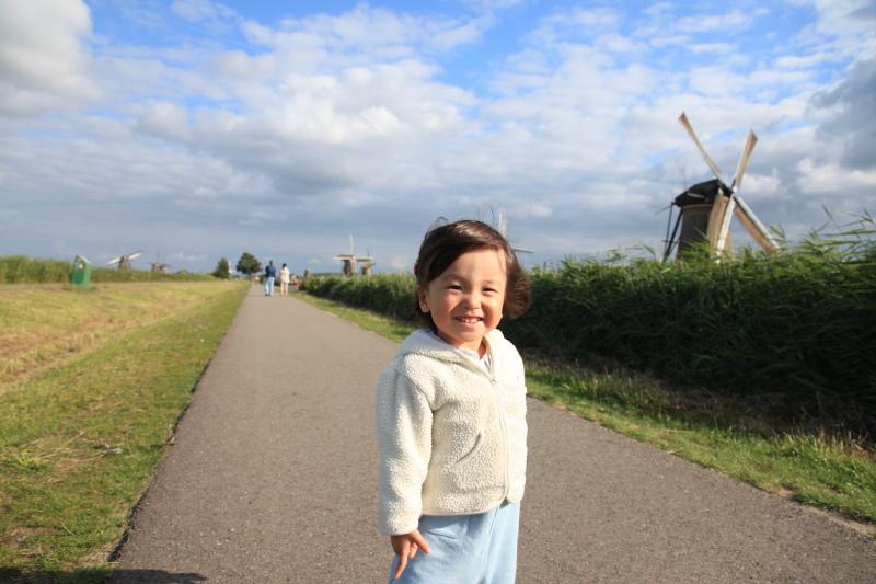 キンデルダイクの風車が回る日_c0187779_3314712.jpg