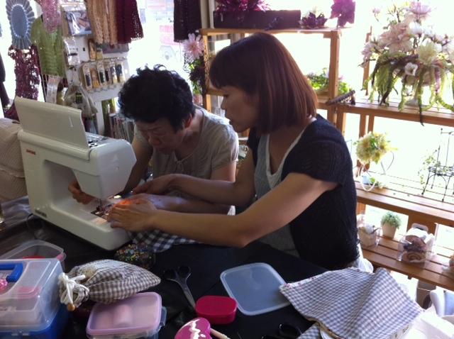 7/11(月「)阿賀野市手芸店」トミタさんで「かわいい巾着を作りましょう」_b0213187_23163572.jpg