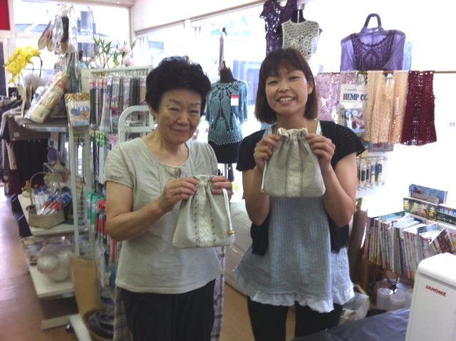 7/11(月「)阿賀野市手芸店」トミタさんで「かわいい巾着を作りましょう」_b0213187_2316759.jpg