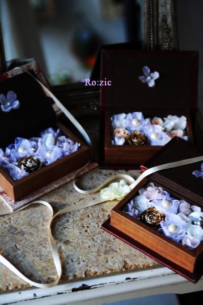 2011.7.13  小さな ブックボックスのリングピロー_b0120777_22542523.jpg