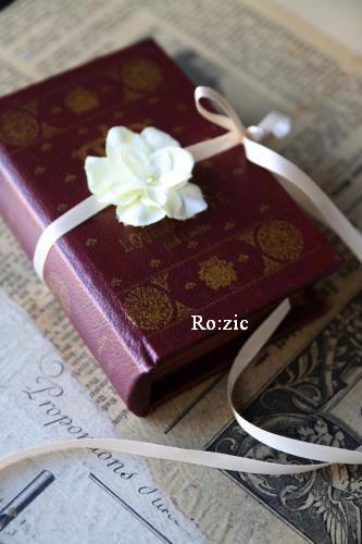 2011.7.13  小さな ブックボックスのリングピロー_b0120777_23134065.jpg