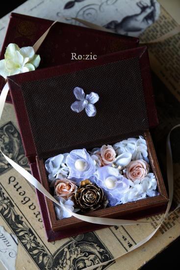 2011.7.13  小さな ブックボックスのリングピロー_b0120777_23161443.jpg