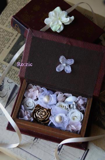 2011.7.13  小さな ブックボックスのリングピロー_b0120777_23165363.jpg