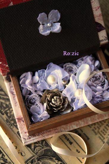 2011.7.13  小さな ブックボックスのリングピロー_b0120777_2394045.jpg