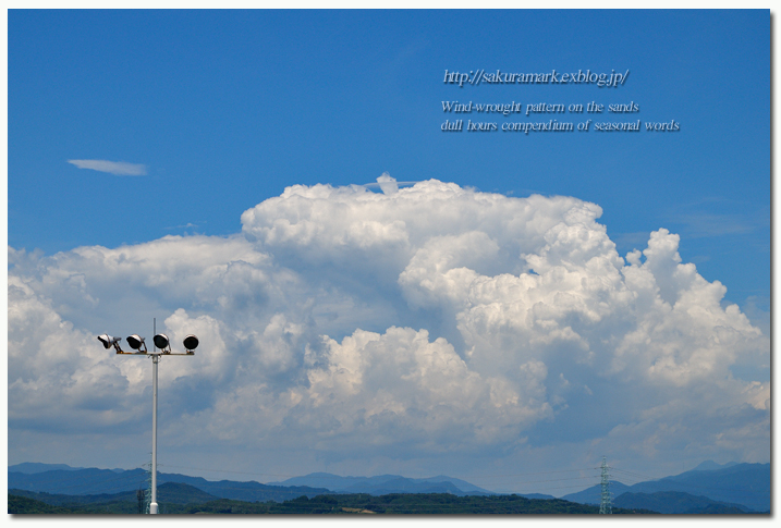 真夏の雄大積雲。_f0235723_1927353.jpg
