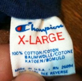 チャンピオン 80'S トリコタグ 3連 リバーシブル Tシャツ!XL _c0144020_1352167.jpg