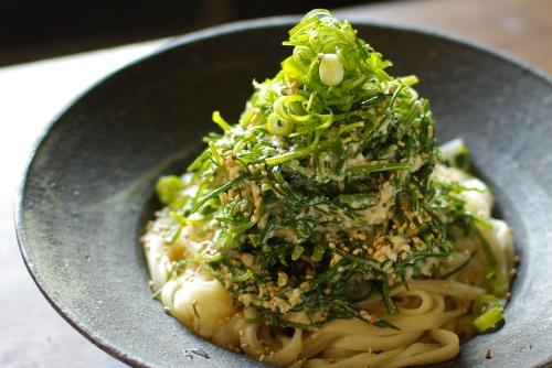 オカヒジキの豆腐和えサラダうどん_c0110869_1332140.jpg