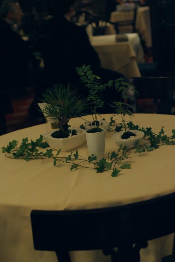樹木という砂金 シェ松尾青山サロン様への装花_a0042928_19384476.jpg