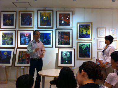 ハリー・ポッター日本語版の画家、ダン・シュレシンジャーさんの東日本大震災復興チャリティーイベント_c0089310_23575994.jpg