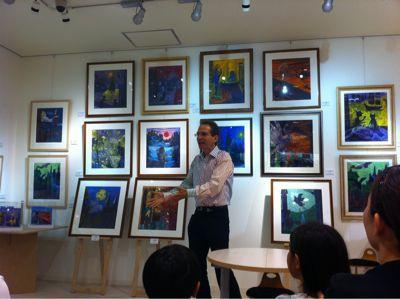 ハリー・ポッター日本語版の画家、ダン・シュレシンジャーさんの東日本大震災復興チャリティーイベント_c0089310_2358444.jpg