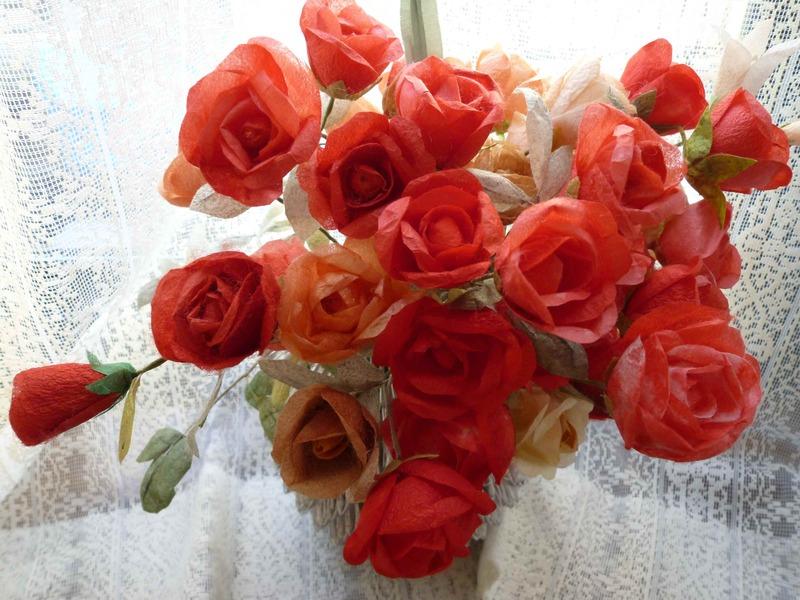 薔薇(繭クラフト)_c0229422_14545379.jpg