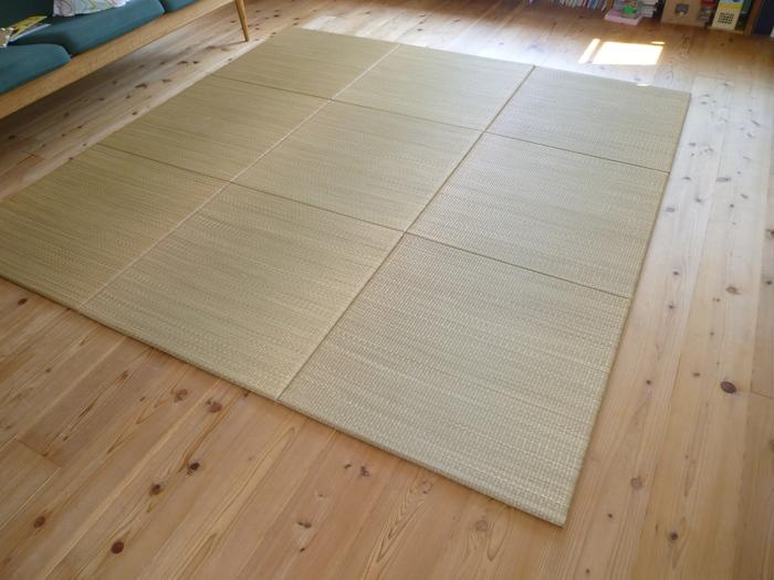 10畳・正方形リビングダイニング、無印良品の「リビングでもダイニングでもつかえる