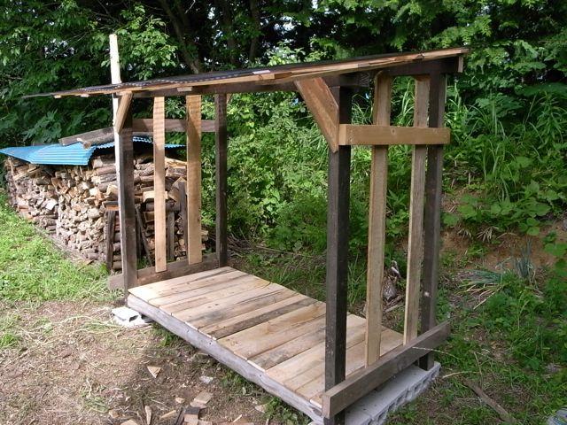 薪置き場を作りました。あり合わせの材料でつくったのでかかったのは4600円ほど_e0105099_15422431.jpg