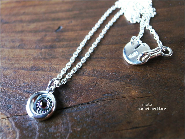 moto leather&silver[モトレザー]Silver Necklace Garnet [シルバーネックレス] [AN12S]_f0051306_0422383.jpg