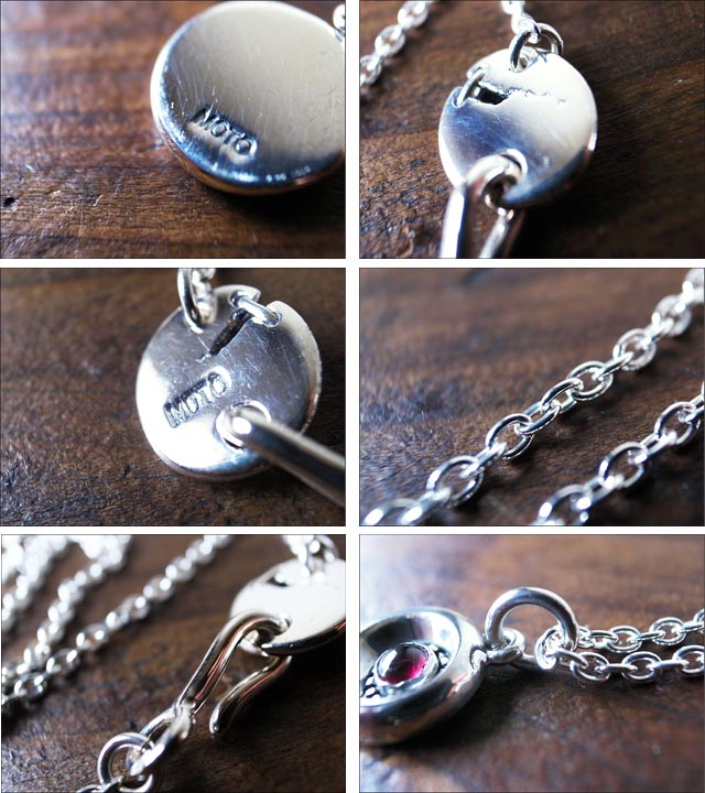 moto leather&silver[モトレザー]Silver Necklace Garnet [シルバーネックレス] [AN12S]_f0051306_0422494.jpg