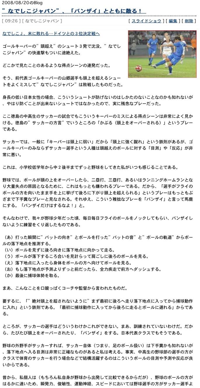 なでしこジャパンW杯初優勝おめでとう2:「なでしこは一日にしてならず」」_e0171614_13382252.jpg
