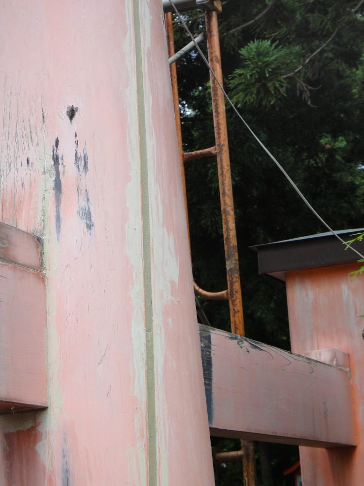 鳥居塗装工事_c0111229_19275992.jpg