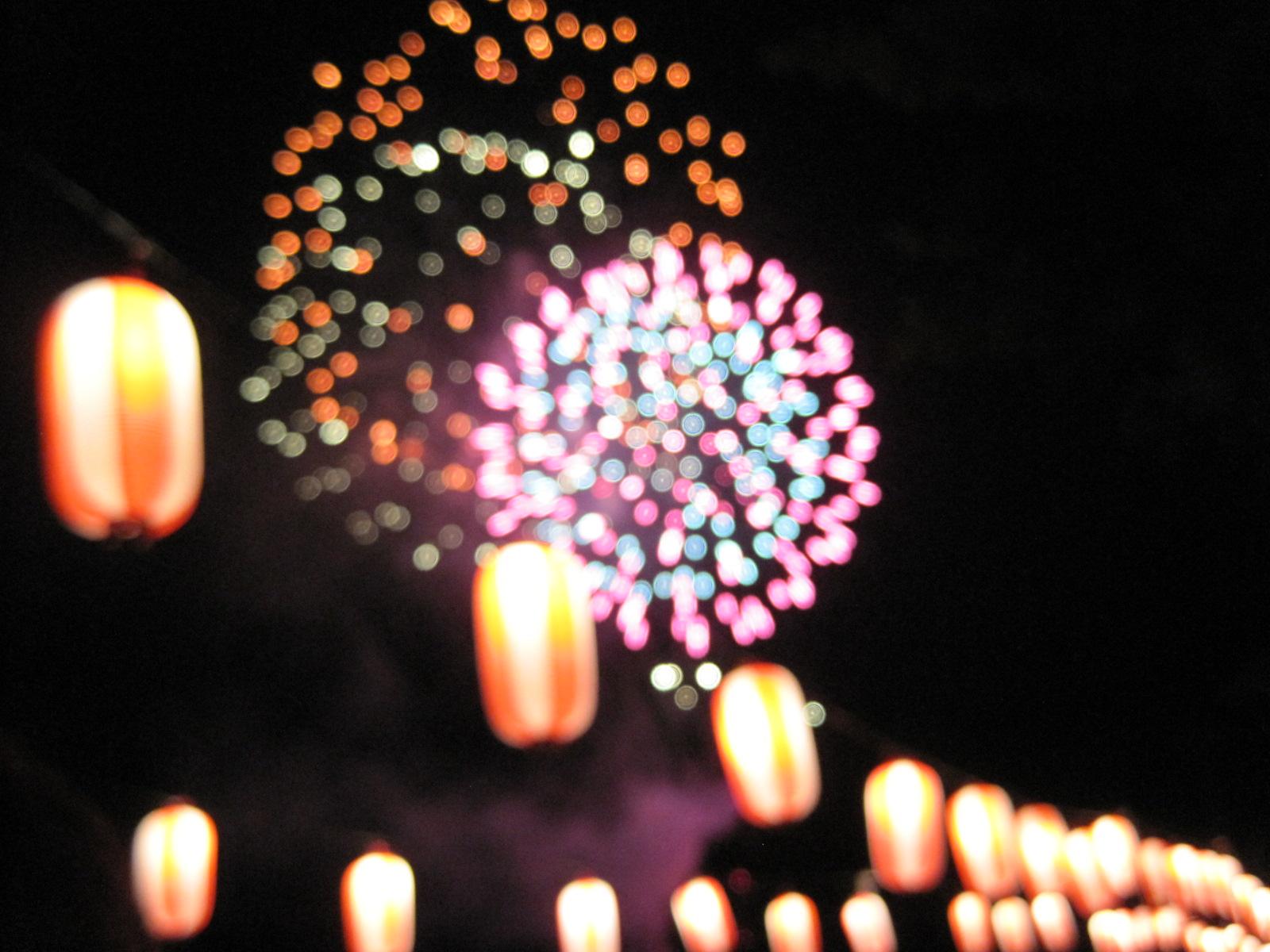 長倉神社の花火&アウトレットの花火_f0236260_144528.jpg